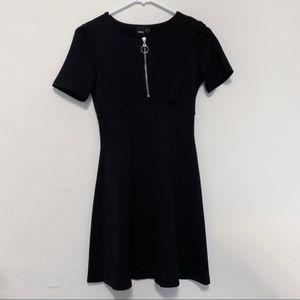 ASOS Zip-Up Black Dress